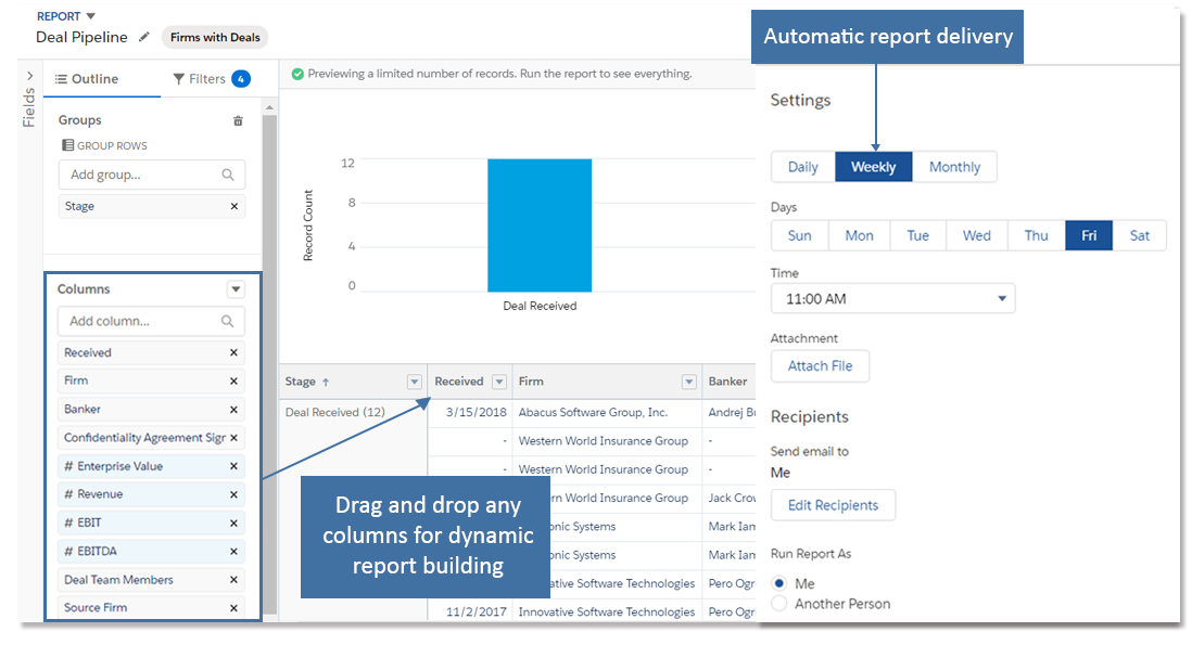 Flexible CRM Reporting
